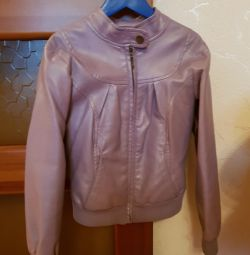 Leather jacket for girl