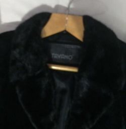 Fur coat with mink