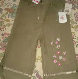 Pantaloni Corduroy pentru fată noua râu 86. copil