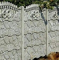 Заборы бетонные наборные от 0,5 до 2,5 м высотой