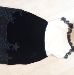Velvet Skirt Nougat London