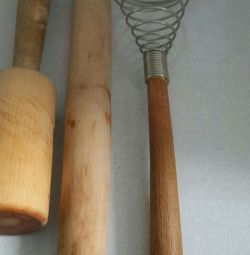 Rolling pin beater whisk and colander