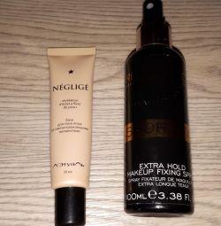 Make-up base and make-up fixer