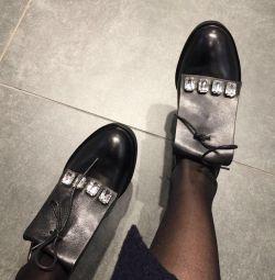 Pantofi din piele pantofi portal pietre pietre