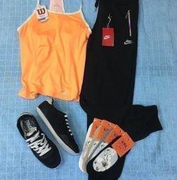 Sportswear, size range, new