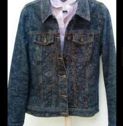 Піджак джинсовий чeрний з тисненням пр-во Італія