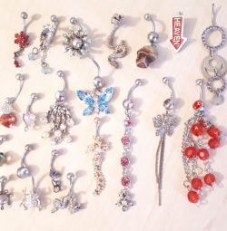 Gümüş piercing