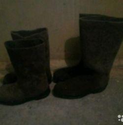 Sale of felt boots
