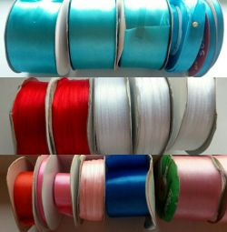 Satin and nylon ribbons