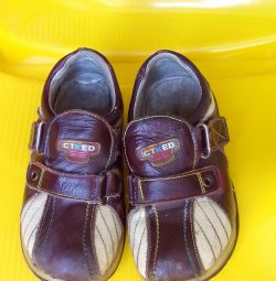 Footwear for a boy (genuine leather)
