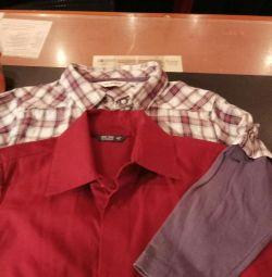 2 πουκάμισα για ένα αγόρι 2-3 ετών