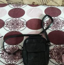 Нова пресована шкіра сумка чоловіча