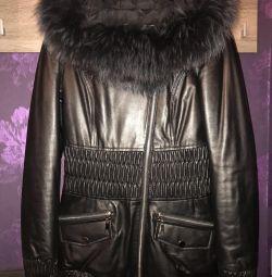 Куртка новая кожаная р.42