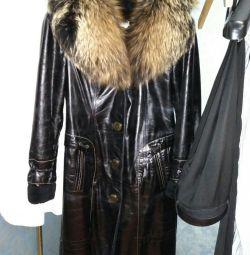 Sheepskin coat nat. skin / muton
