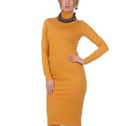 Dress fitting mustard color size M