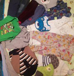 Пакет детских вещей 80 размер