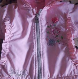 Jacket Spring - φθινόπωρο για ένα κορίτσι μέχρι 1 έτους