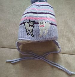 Used hat / winter for girls r. 48-50