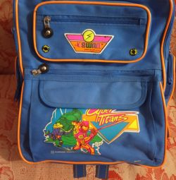 School backpack for a boy. New