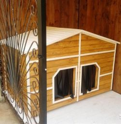 Insulated booth for 2 medium dogs