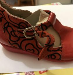 New Leather Children's Shoes in Different Sizes