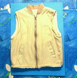 Vesta de blană pentru 10-12 ani și 3 jachete