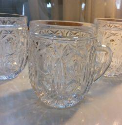 Crystal mugs utensils ussr