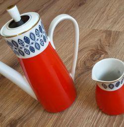 Чайник кофейник молочник фарфор