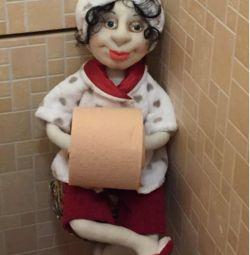 Rolă de toaletă pentru suport pentru păpuși