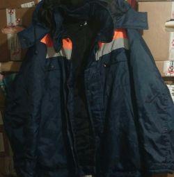 Jacket working new men's large size
