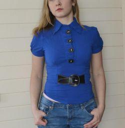 Сорочка синя жіноча
