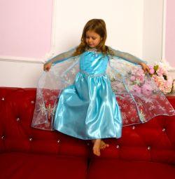 Dress Elsa at 95-130 cm