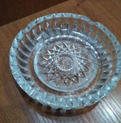Vintage. Crystal ashtray. the USSR