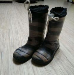 Zebra cizme din cauciuc