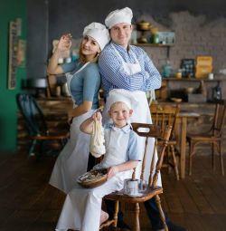 Chef apron and cap