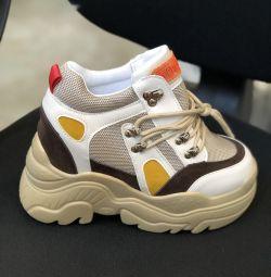 Şık platform spor ayakkabı