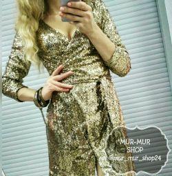 Новое платье на запах пайетки