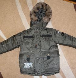 Очень теплая куртка на 122-128 см.