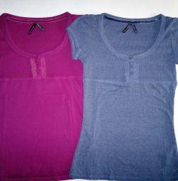 Tricouri Noi * 2 culori * Bumbac * S-44