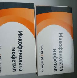 Mikofenolat mofetil (Cellsept, Maysept) 500 mg