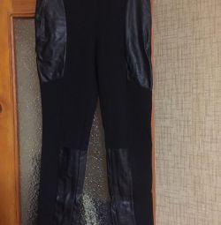 Παντελόνια με δερμάτινα ένθετα, 44-46