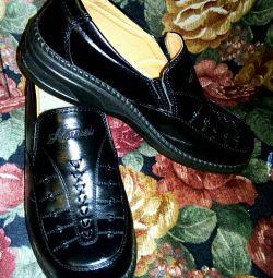 Туфлі чорні жіночі р. 39 для проблемної ноги