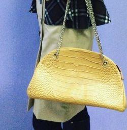 Ефектна сумка з еко шкіри