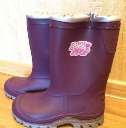 Rubber boots with insulation to -5