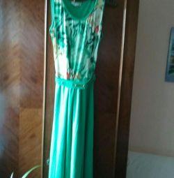 Φόρεμα, σατέν, δεμένη κορυφή