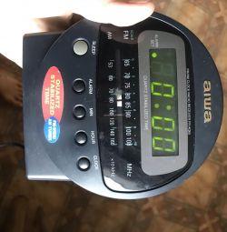 Radio cu ceas cu alarmă electronic AIWA Tokyo Japonia