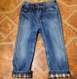 Детские джинсы на утеплителе