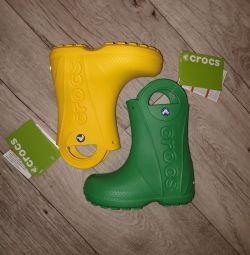 Сапоги crocs c11 с12