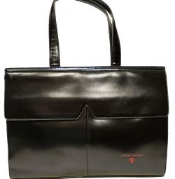 Lady's bag. Smooth eco-leather. Black.