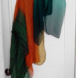 silk scarf and shawl